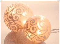 Lichtbollen en lichtkettingen