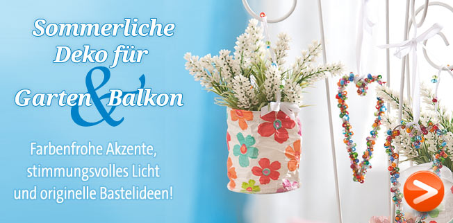 Sommerliche Deko fr Garten &amp; Balkon