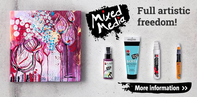 Mixed Media - volledige artistieke vrijheid!