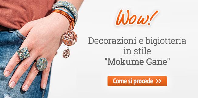 Wow! Decorazioni e bigiotteria in stile Mokume Gane!