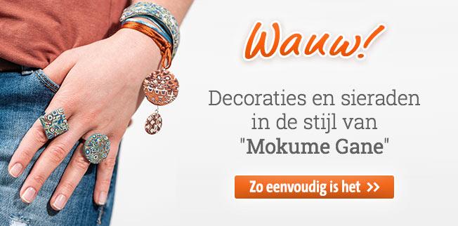 Wauw! Decoraties en sieraden in de stijl van Mokume Gane!