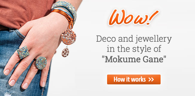 Deco & jewellery in the style of Mokume Gane