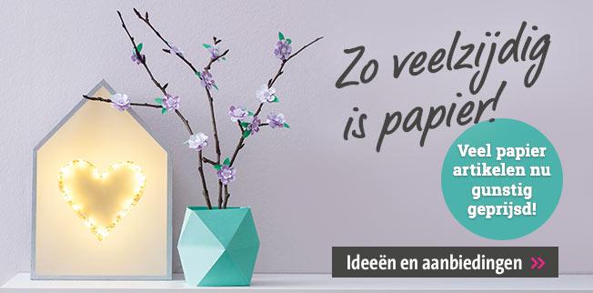 Zo veelzijdig is papier! Veel papier artikelen nu gunstig geprijsd!