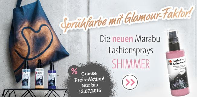 Die neuen Marabu Fashionsprays Shimmer