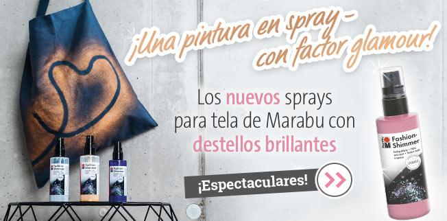 Los nuevos sprays para tela de Marabu con destellos