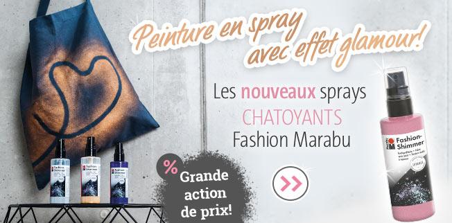 Les nouveaux sprays chatoyants Fashion Marabu!