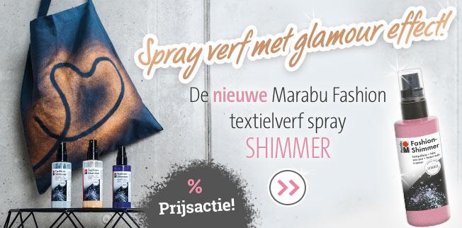De nieuwe Marabu Fashion textielverf spray Shimmer