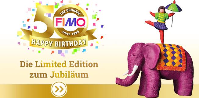 Seien Sie gespannt auf die FIMO<sup>�</sup> Jubil�ums-Edition! Mit tollen Farben und vielen Anleitungen f�r gro�en Modellierspa�!
