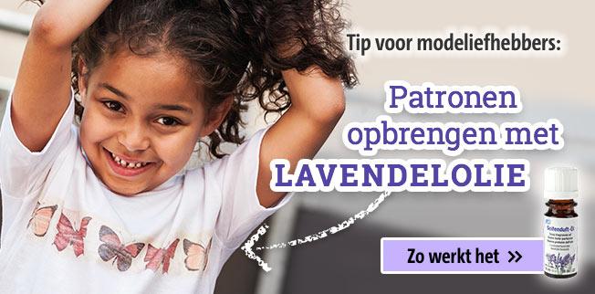 Tip voor modeliefhebbers: Patroon opbrengen met lavendelolie!