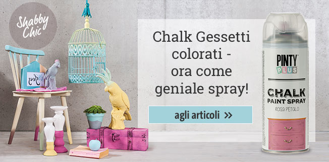 Chalk Gessetti colorati - ora come geniale spray!!