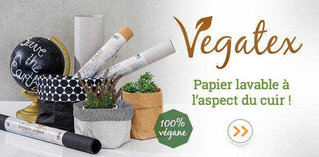 Vegatex - Vegatex - Papier lavable � l?aspect du cuir !