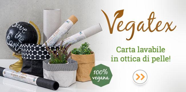 Vegatex - carta lavabile in ottica di pelle!
