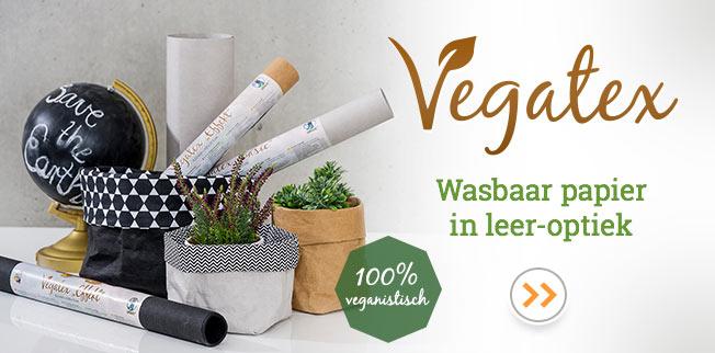 Vegatex - wasbaar papier in leer-optiek!