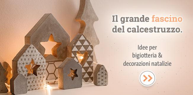 Il grande fascino del calcestruzzo. Idee per bigiotteria & decorazioni natalizie!