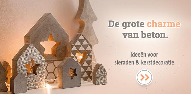 De grote charme van beton. Ideeën voor sieraden & kerstdecoratie!