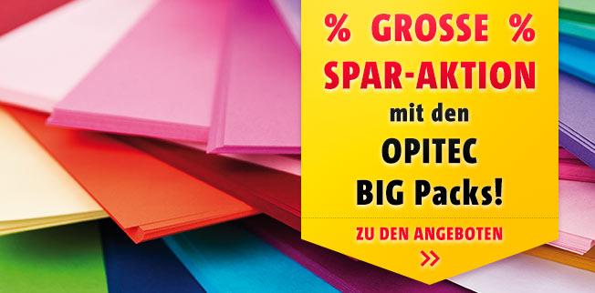 Große Spar-Aktion mit den OPITEC Big-Packs!
