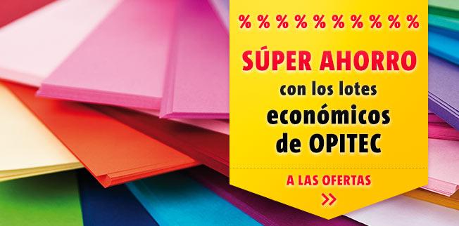 Super ahorro con los lotes economicos de OPITEC