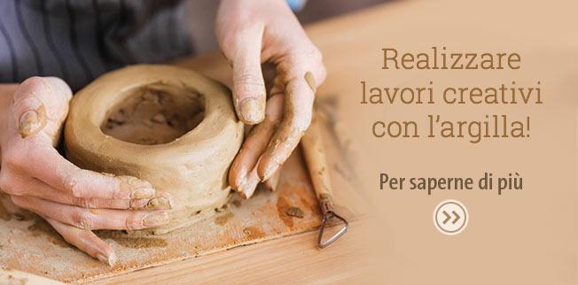 Realizzare lavori creativi con l?argilla!