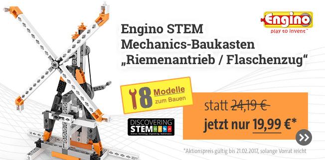 Engino STEM Mechanics-Baukasten Riemenantrieb / Flaschenzug jetzt zum Angebotspreis!