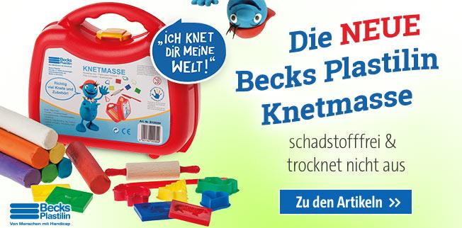 Die NEUE Becks Plastilin-Knetmasse - schadstofffrei & trocknet nicht aus!