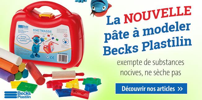 La NOUVELLE pâte à modeler Becks Plastilin : exempte de substances nocives, ne sèche pas !