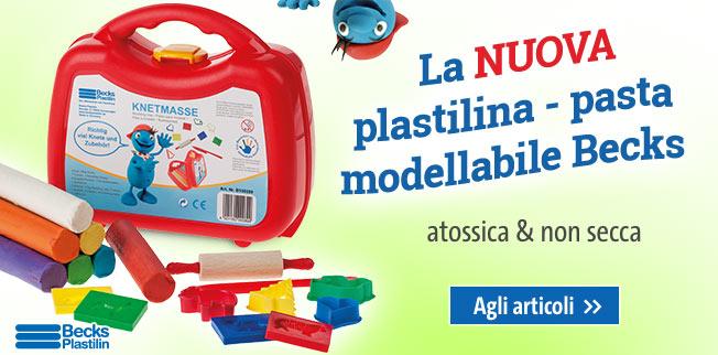 La NUOVA plastilina - pasta modellabile Becks: atossica  & non secca!