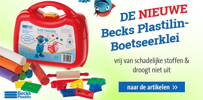 De NIEUWE Becks Plastilin-Boetseerklei: vrij van schadelijke stoffen & droogt niet uit!
