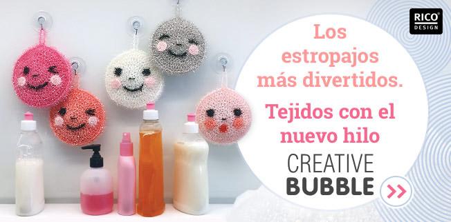 Tejidos con el nuevo hilo Creative Bubble