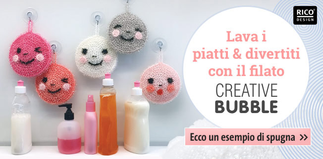 Lava i piatti & divertini con il filato Creative Bubble