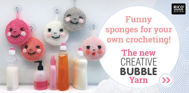 Funny sponges for your own crocheting