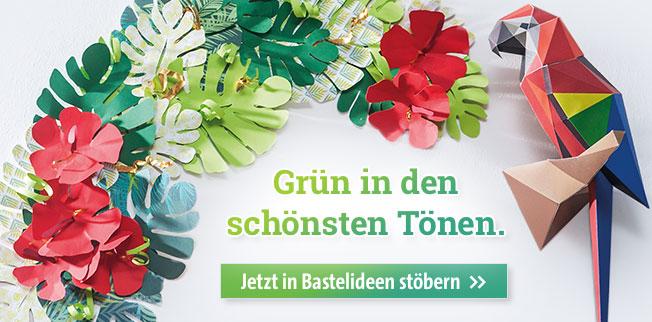 Grün in den schönsten Tönen! Jetzt in Bastelideen stöbern!