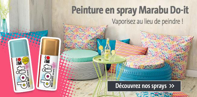 Peinture en spray Marabu Do-it : Vaporisez au lieu de peindre !