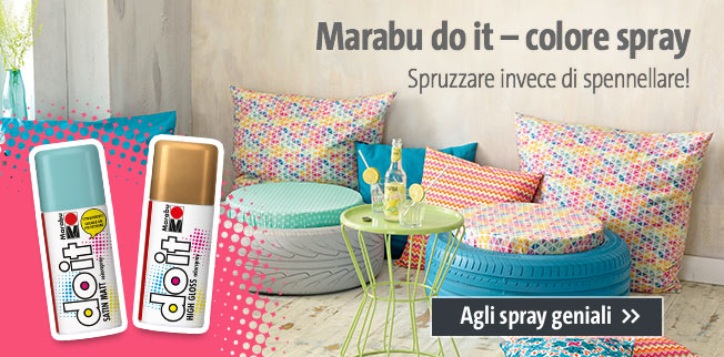 Marabu do it ? colore spray: Spruzzare invece di spennellare!