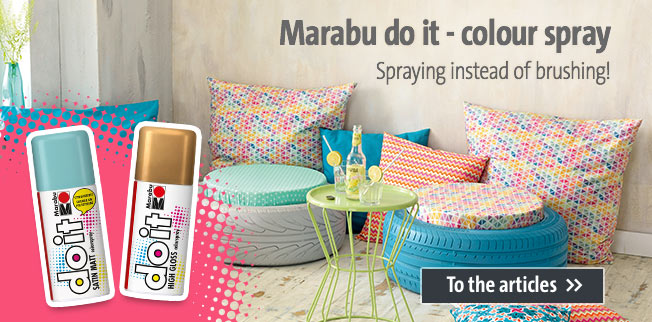 Marabu do it - colour spray: Spraying instead of brushing!
