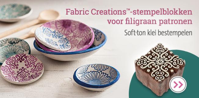 Fabric Creations-stempelblokken voor filigraan patronen