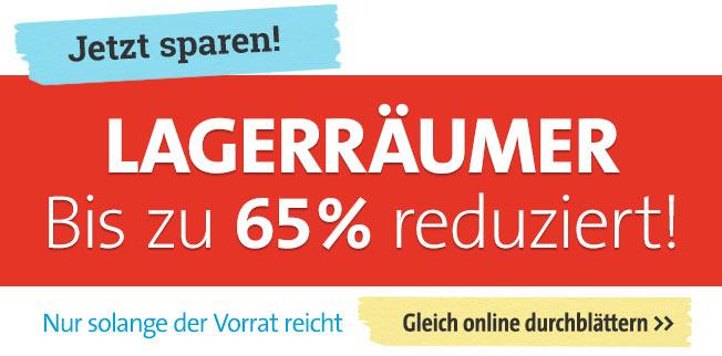 Lagerräumer - bis zu 65% reduziert!