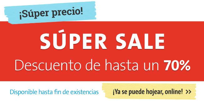 Súper Sale - Descuento de hasta un 70%