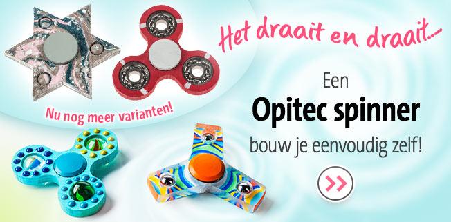 Een OPITEC spinner bouw je eenvoudig zelf! Nu nog meer varianten!