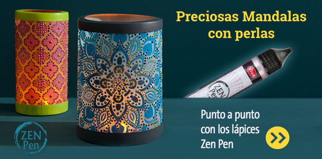 Preciosas Mandalas con perlas Punto a punto con los lápices Zen Pen