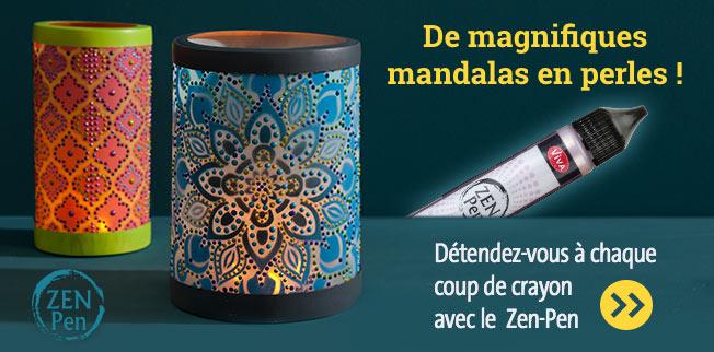 De magnifiques mandalas en perles ! Détendez-vous à chaque coup de crayon avec le  Zen-Pen !