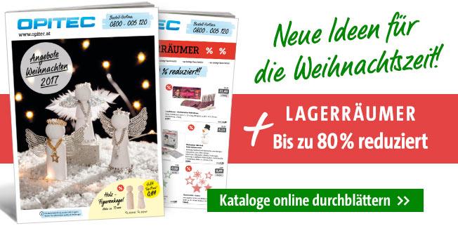 Basteln zur Weihnachtszeit - neue Angebote & Lagerräumer