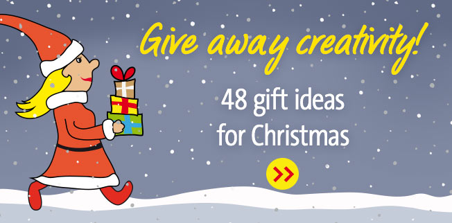 Give away creativity! 48 gift ideas for Christmas