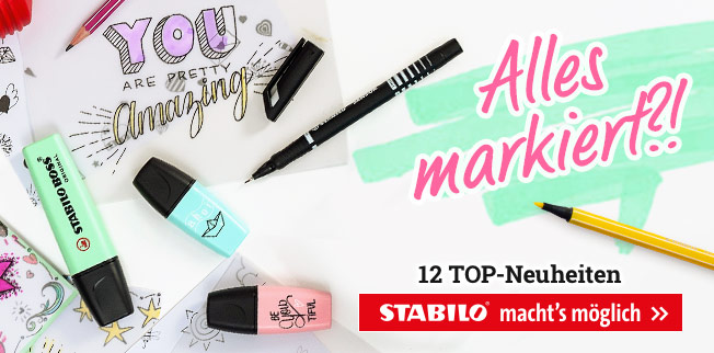 Alles markiert?! STABILO macht's möglich! 12 TOP-Neuheiten!