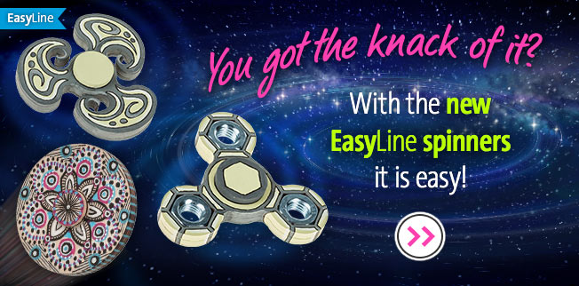 You got the knack of it? With the new EasyLine spinners it is easy!