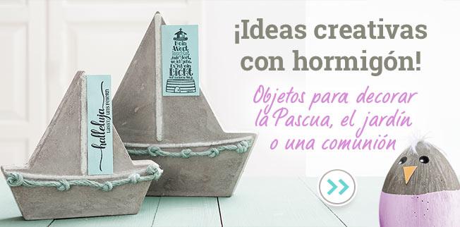 ¡Ideas creativas con hormigón! Objetos para decorar la Pascua, el jardín o una comunión