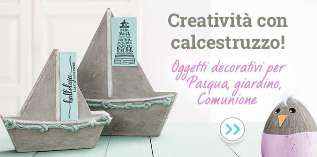 Creatività con calcestruzzo! Oggetti decorativi per Pasqua, giardino, Comunione