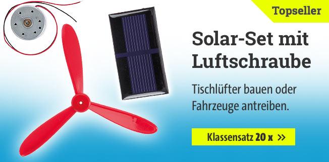 Solar-Set mit Luftschraube - Klassensatz 20 x