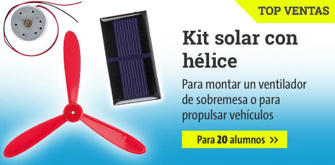Kit solar con hélice para 20 alumnos