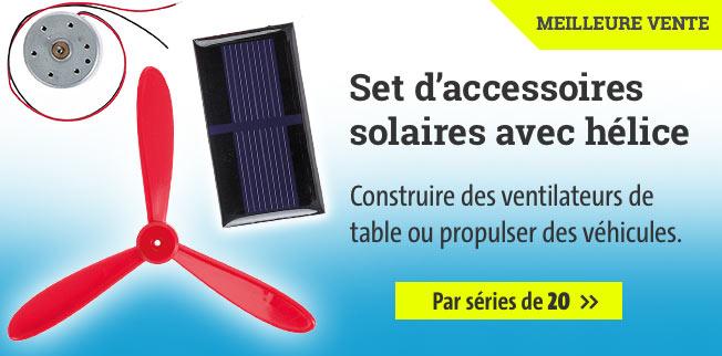 Set d?accessoires solaires avec hélice - Par séries de 20