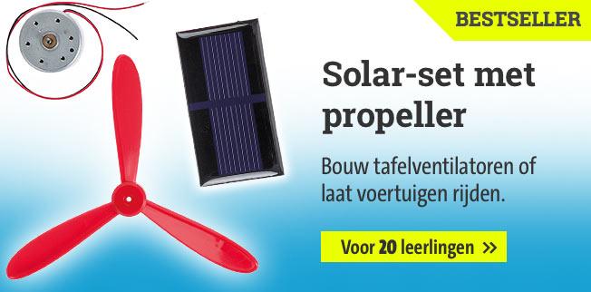 Solar-set met propeller voor 20 leerlingen